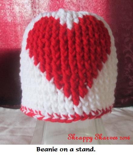 40c Martin's red heart beanie